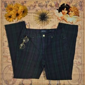 Plaid Straight Leg Skinnies Charter Club